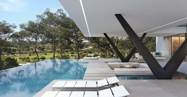 Villa Olivo fachada piscina